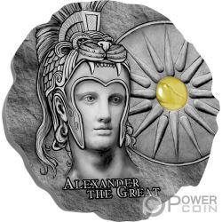 ALEXANDER THE GREAT Камень Монета Серебро 500 Франков Камерун Cameroon 2020