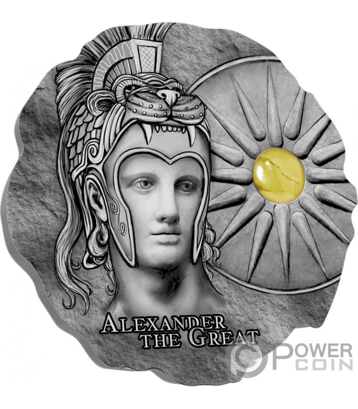 ALEXANDER THE GREAT Stone Silver Coin 500 Francs Cameroon 2020