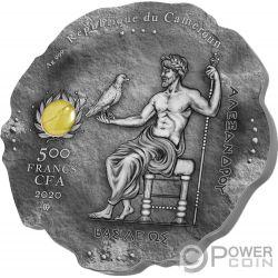 ALEXANDER THE GREAT Stein Silber Münze 500 Franken Cameroon 2020