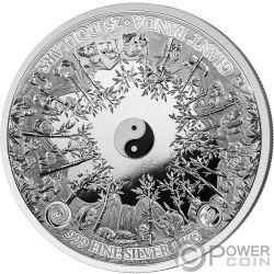 MASTERSIZE PANDA 35 Юбилей 1 Кг Кило Монета Серебро 25$ Самоа 2018