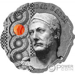 HANNIBAL BARCA Piedra Ancient Commanders Moneda Plata 500 Francos Cameroon 2020