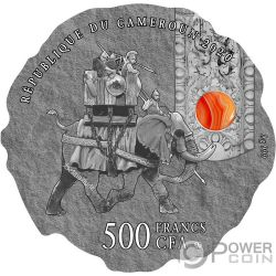 HANNIBAL BARCA Камень Ancient Commanders Монета Серебро 500 Франков Камерун 2020