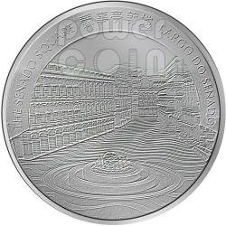 DRAGON Lunar Year 5 Oz Plata Proof Moneda 100 Patacas Macau 2012
