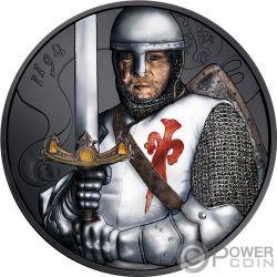 DUKE LEOPOLD V Burning Ruthenium 1 Oz Silver Coin 1.5€ Austria 2019