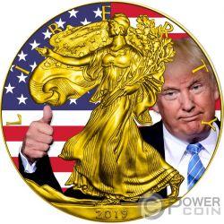 TRUMP Walking Liberty 1 Oz Silver Coin 1$ USA 2019