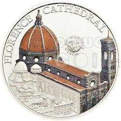 FLORENCE CATHEDRAL Italy World Of Wonders 5$ Moneda Plata Palau 2011