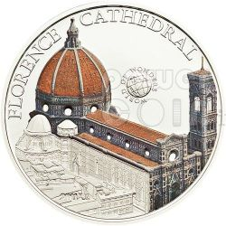 FLORENCE CATHEDRAL Italy World Of Wonders 5$ Silver Coin Palau 2011