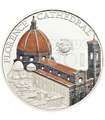 DUOMO FIRENZE Cattedrale Santa Maria del Fiore World Of Wonders Moneta Argento 5$ Palau 2011