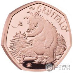 GRUFFALO MOUSE Bestia Raton Moneda Oro 50 Pence United Kingdom 2019