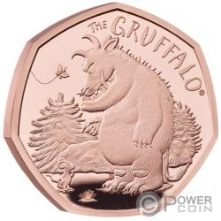 GRUFFALO MOUSE Tier Gold Münze 50 Pence United Kingdom 2019