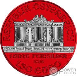 WIENER PHILARMONIKER Space Red 1 Oz Silver Coin 1.5€ Austria 2019
