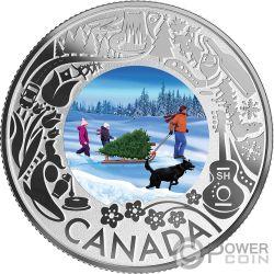 CHRISTMAS TREE Natale Fun and Festivities Moneta Argento 3$ Canada 2019