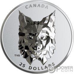LYNX Lupo Multifaced Animal Head 1 Oz Moneta Argento 25$ Canada 2020