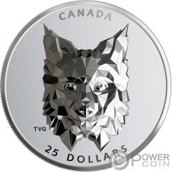 LYNX Multifaced Animal Head 1 Oz Silver Coin 25$ Canada 2020