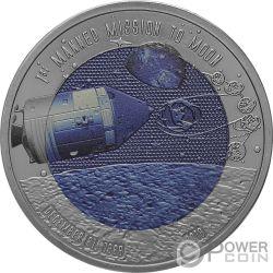MOON LANDING Луна 50 Юбилей Монета Титан 2 седи Гана 2019