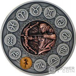 VIRGO Horoscope Zodiac 24 Kt Gold Plated 1$ Cook Islands