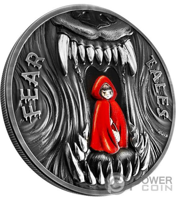 LITTLE RED RIDING HOOD Сказка Красная Шапочка Fear Tales 2 Oz Монета Серебро 10$ Палау 2019
