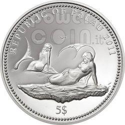 ANEMONEFISH Clownfish Marine Life Protection Серебро Монета 5$ Палау 2011