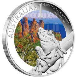 GREATER BLUE MOUNTAINS Rana Celebrate Australia Sydney ANDA Moneta Argento Proof 1$ 2011
