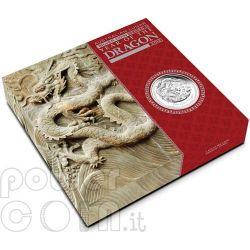 DRAGON Lunar Year Series 1 Kg Kilo Silver Proof Coin 30$ Australia 2012