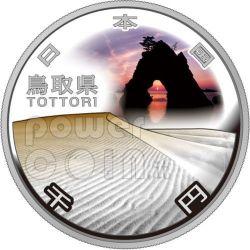 TOTTORI 47 Prefetture (15) Moneta Argento 1000 Yen Giappone 2011
