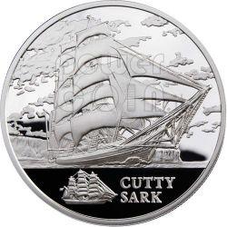 CUTTY SARK Sailing Ship Silver Coin Hologram Belarus 2011