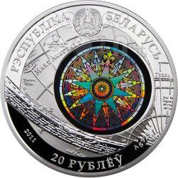 CUTTY SARK Sailing Ship Moneda Plata Hologram Belarus 2011