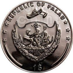 POKER DEALER BUTTON Hearts Texas Hold'em Coin 1$ Palau 2008