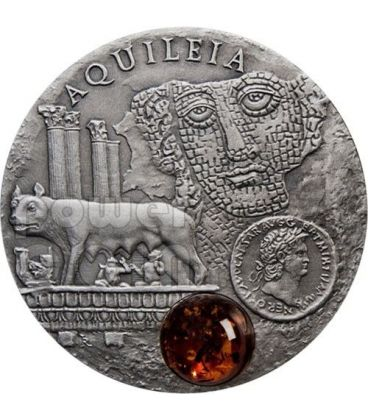 AQUILEIA Via Ambra Amber Moneta Argento 1$ Niue 2011