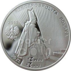 BEATIFICATION JOHN PAUL II Pope Moneda Plata 20 zl Poland 2011