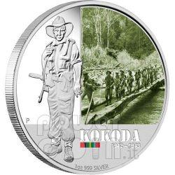 KOKODA FAMOUS BATTLES 1942 Silver Coin 1$ Australia 2012