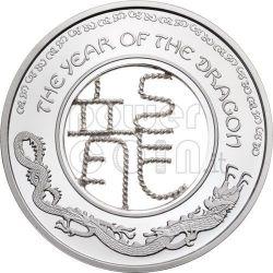 DRAGON FILIGREE Lunar Year Серебро Монета 1$ Фи́джи 2012