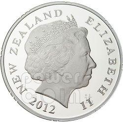 HEI MATAU Maori Art Pounamu Greenstone Moneda Plata 1$ New Zealand 2012