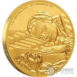 2018 $1 Pure Silver Coin Mint Poland GOLDEN FIVE LADY IN GOLD GUSTAV KLIMT