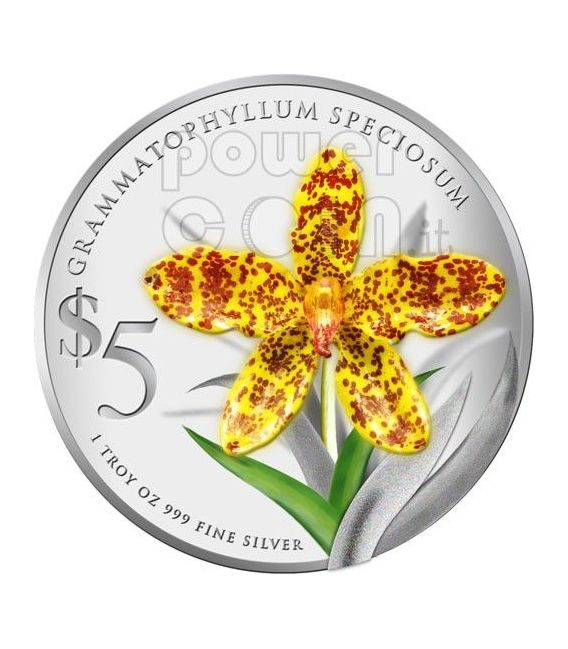 ORCHIDS Native 2 Silber Proof Münze Set 5$ Singapore 2011