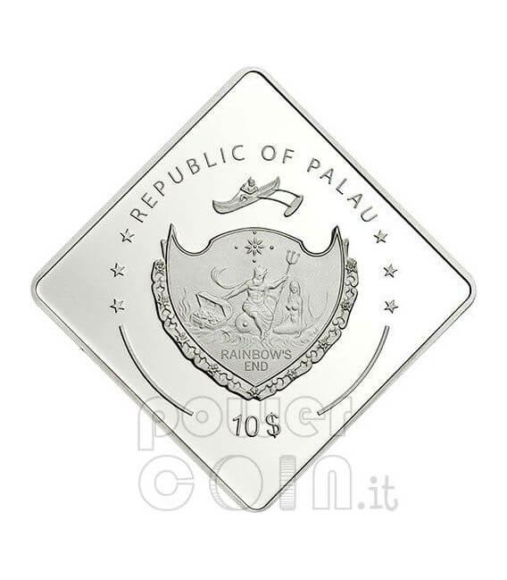 BISMARCK Battleship 2 Oz Серебро Монета 10$ Палау 2009