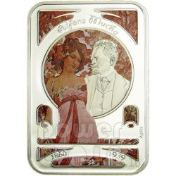 ALFONS MUCHA World of Painting Silber Münze 1$ Niue 2010