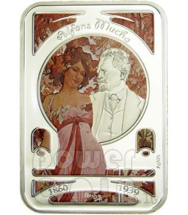 ALFONS MUCHA World of Painting Silver Coin 1$ Niue Island 2010