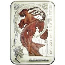 ALFONS MUCHA World of Painting Серебро Монета 1$ Ниуэ 2010