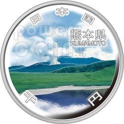 KUMAMOTO 47 Prefectures (16) Silber Proof Münze 1000 Yen Japan 2011