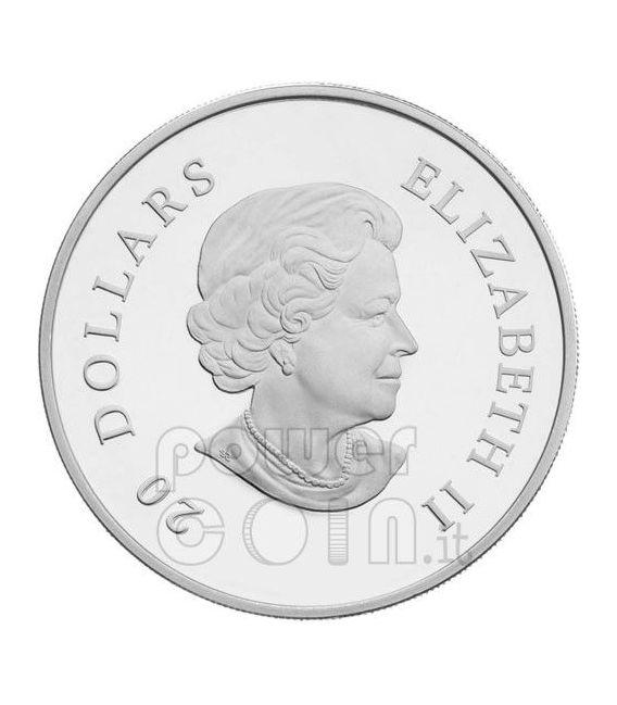 SNOWFLAKE EMERALD Silver Coin Swarovski 20$ Canada 2011