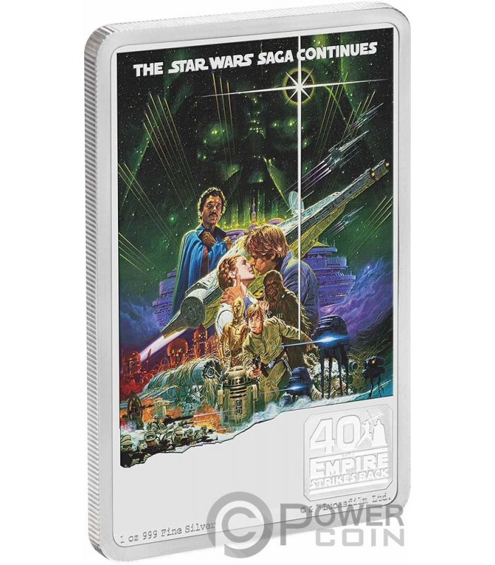 Niue 2020-1 oz Silver Proof Coin The Empire Strikes Back 40th Star Wars