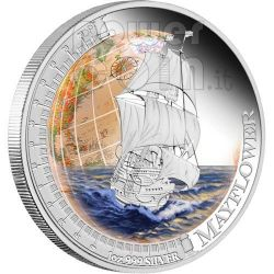 MAYFLOWER Ships That Changed The World Silver Coin 1$ Tuvalu 2012