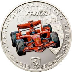 FERRARI F2008 Red Legend Moneda 1$ Cook Islands 2008