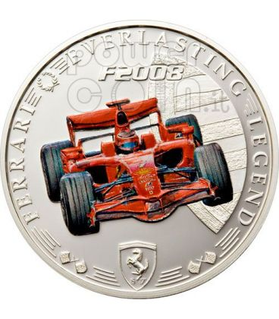 FERRARI F2008 Red Legend Coin 1$ Cook Islands 2008