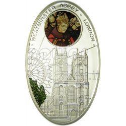 CATTEDRALI GOTICHE WESTMINSTER Abbazia Londra Cattedrale Moneta Argento 1$ Niue Island 2010