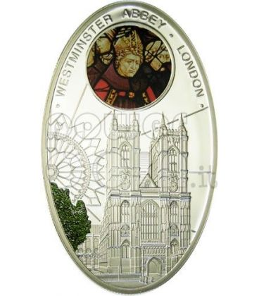 GOTHIC CATHEDRALS WESTMINSTER ABBEY London Silver Coin 1$ Niue Island 2010