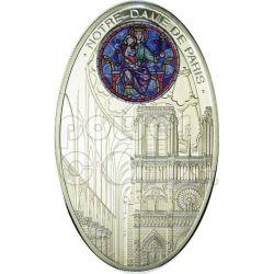 GOTHIC CATHEDRALS NOTRE DAME De Paris Silver Coin 1$ Niue Island 2010
