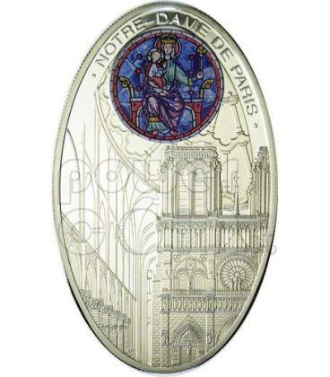 CATTEDRALI GOTICHE NOTRE DAME Parigi Cattedrale Moneta Argento 1$ Niue 2010