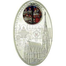 CATTEDRALI GOTICHE SANTO STEFANO Stephansdom Vienna Cattedrale Moneta Argento 1$ Niue 2010